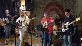 Steve,Nic,Bill,Bob,John Performing Blue Sky Main Street Music and Art Studio