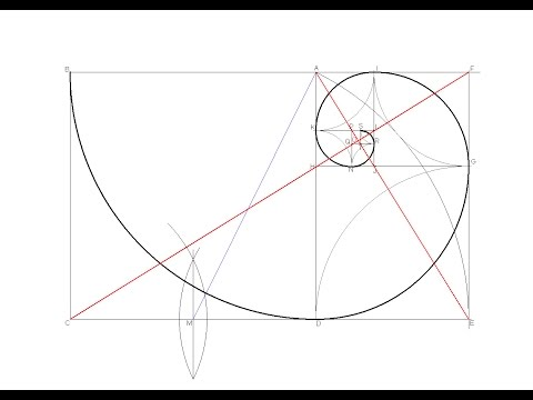 How to draw a Golden Ratio Spiral