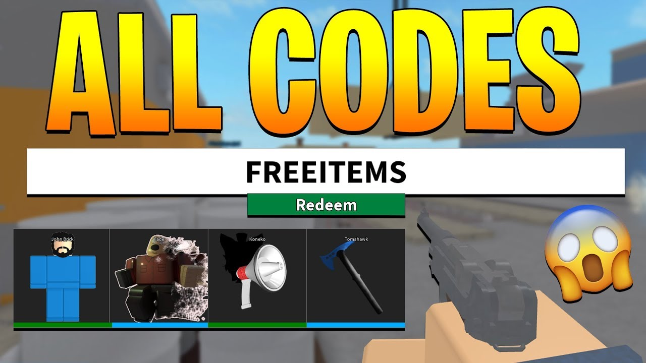 all working codes in arsenal roblox