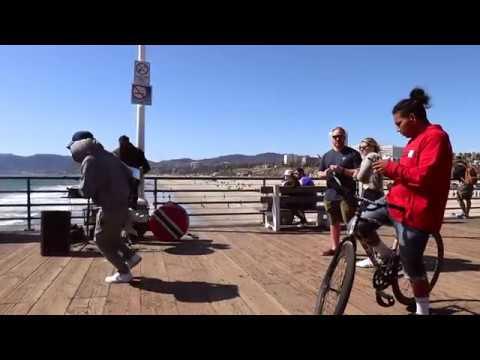 Steel Pan performance of Post Malone Rockstar - Santa Monica Pier, Los Angeles