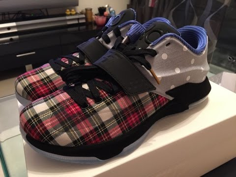 Nike KD 7 EXT Plaid Polka Dots (Preview) - YouTube 15460974b5