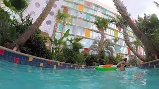 Cabana Bay Beach Resort lazy river & new pool at Universal Orlando
