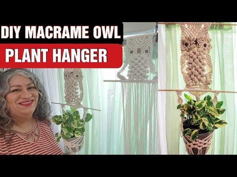 easy-diy-macrame-owl-plant-hanger- -macrame-tutorial-pt.-1
