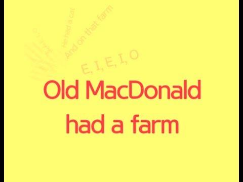 Old MacDonald Had A Farm (Lyrics Only)
