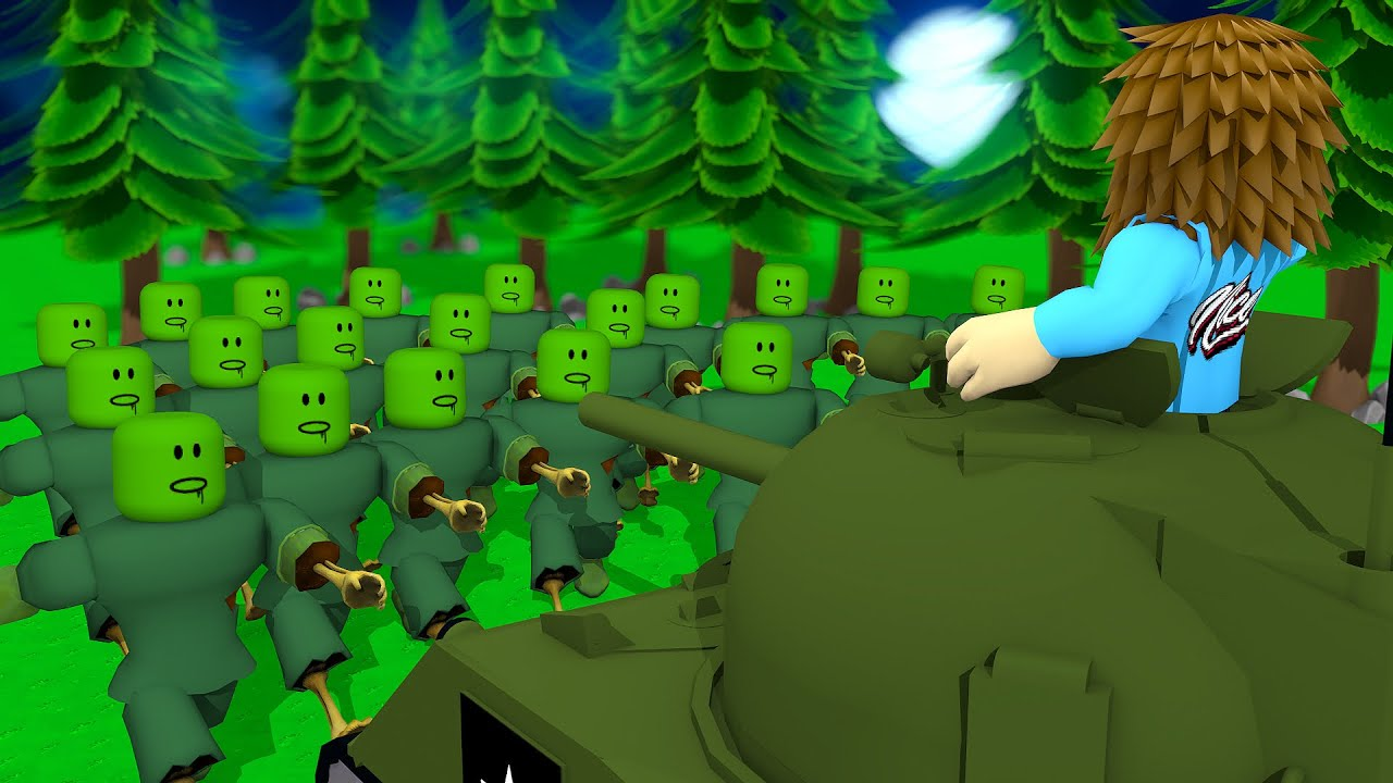 Fighting Off HORDES Of Zombies In Roblox