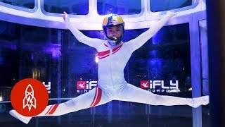This Indoor Skydiver Is Defying Gravity and Expectations