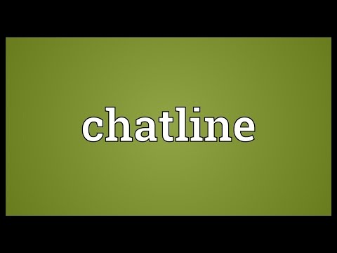 Chatline Meaning