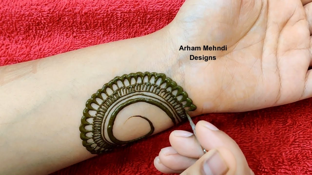 Easy Simple Mehndi Design For Front Hand Rakhi Eid 2020 Special Stylish Arabic Mehndi Design Youtube