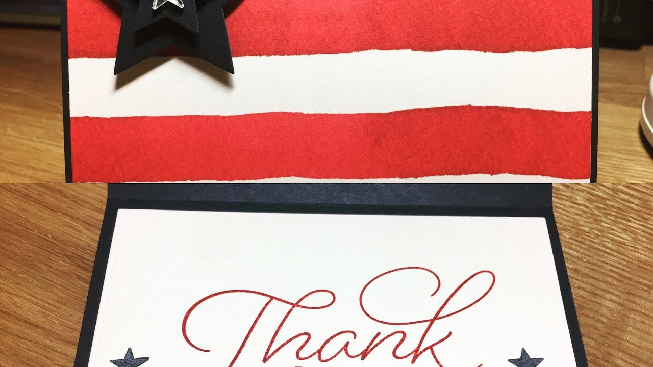 summer bbq invite patriotic card american flag with stampin up