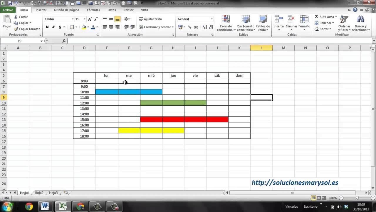 Excel 2010, marcar con una trama - YouTube