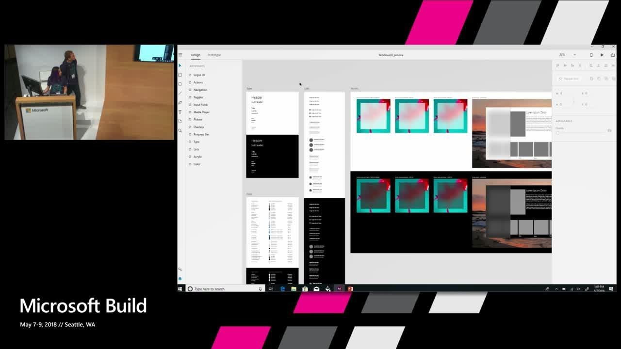 Designing for Fluent with Adobe XD and other design tools : Build 2018