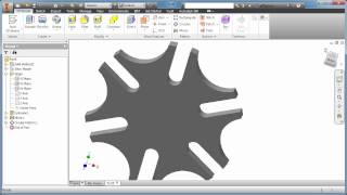 Inventor Tutorial - Geneva Wheel 1 of 6