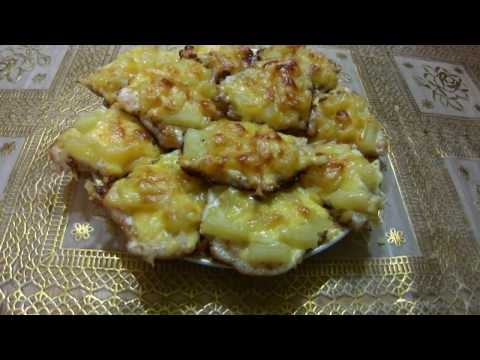 Филе цыпленка под ананасами