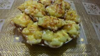 Куриное филе с ананасом в духовке.