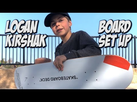 LOGAN KIRSHAK BOARD SET UP & INTERVIEW !!! - NKA VIDS -