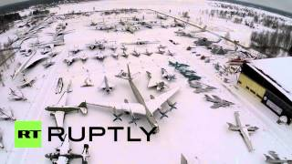 Russia: See spectacular drone footage of Moscow plane museum