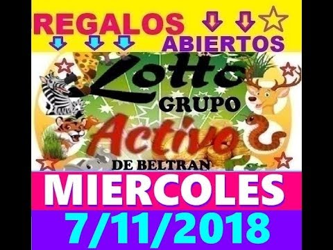 LOTTO ACTIVO Y LA GRANJITA DATOS FIJOS 7/11/2018