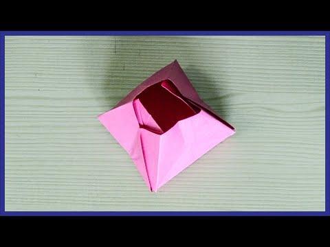 How To Make A Paper Pyramid Box - Origami Pyramid Box - Paper Activity