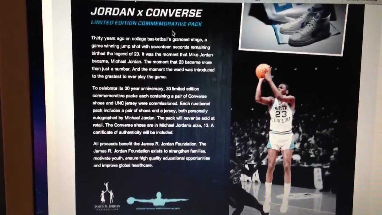 c07e0a970b730b Signed Jordan Converse UNC Limited Pack Discussion - YouTube