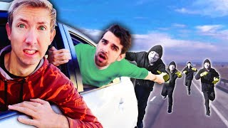 HOMELESS AGAIN? PROJECT ZORGO Took Our SAFE HOUSE After Ninja Battle Royale & Escape in Tesla thumbnail