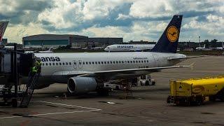 Посадка во Внуково Lufthansa A320 D-AIZK LH3018 TXL-VKO 17.08.14 | Landing in Vnukovo