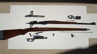Nemis Mauser K98 miltiq. Ta'mirlash so'ng Test qalbida.