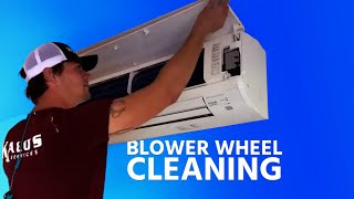 Highwall Ductless Blower Wheel Cleaning
