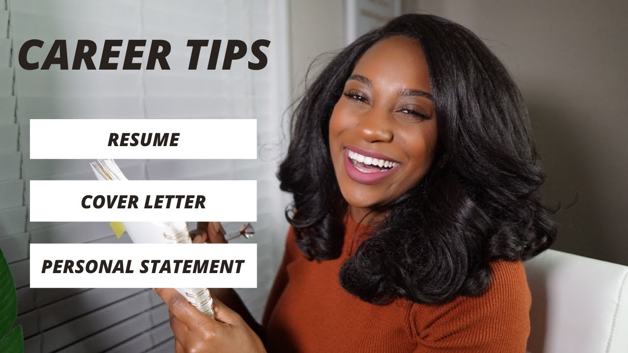 RESUME, COVER LETTER, & PERSONAL STATEMENT TIPS | Career Tips | Kameron Monet