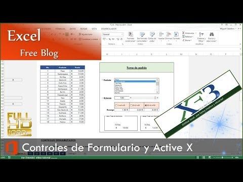 Macros 04. Controles de Formulario y Controles ActiveX, BHAR y Macros. Excel 2013