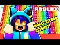 ATTEMPTING A WORLD RECORD IN SUPER FUN EASY OBBY IN ROBLOX!