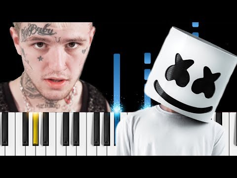 Marshmello & Lil Peep - Spotlight - Piano Tutorial / Piano Cover