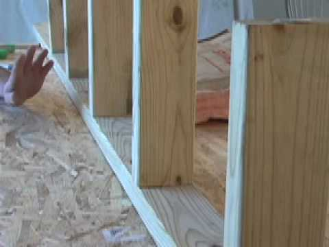 How to frame a wall 16 inch on center cc youtube for Framing interior basement walls