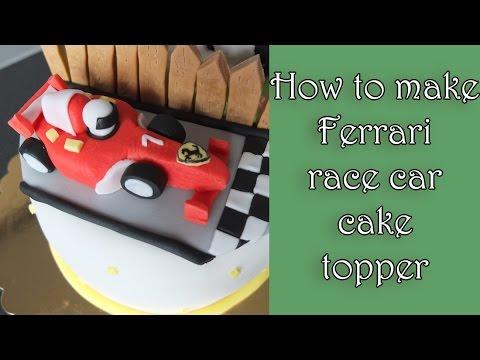How To Make A Fondant Ferrari Racecar Jak Zrobic Wyscigowke