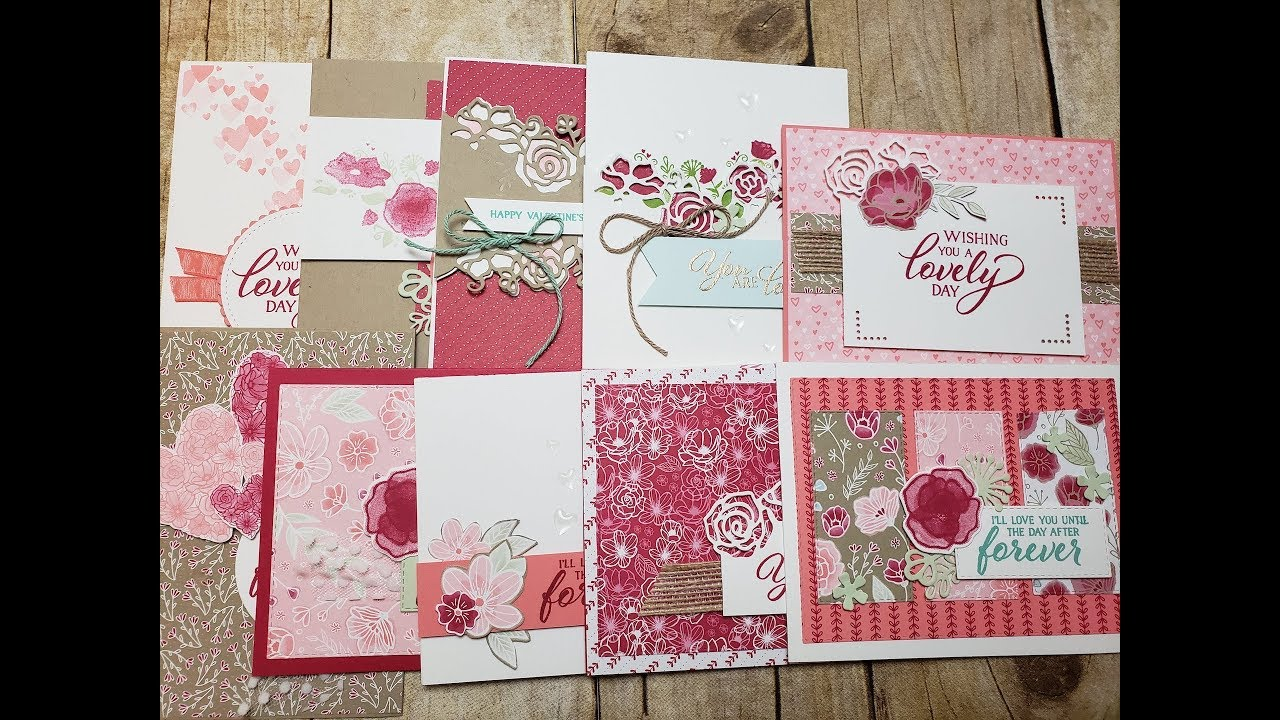 10 Cards 1 Suite   Stampin' Up! All My Love Suite   Occasions Catalog 2019 - YouTube