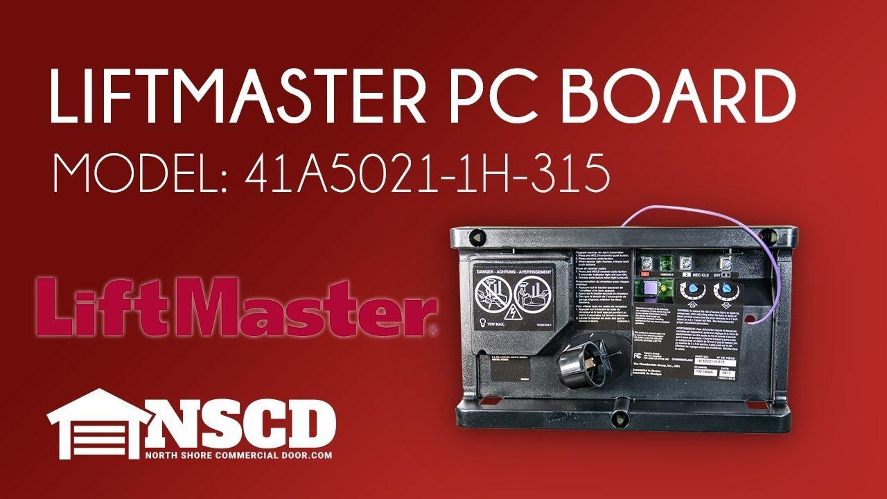 Liftmaster Chamberlain 41a5021 1h 315 Garage Door Opener Circuit Board Youtube