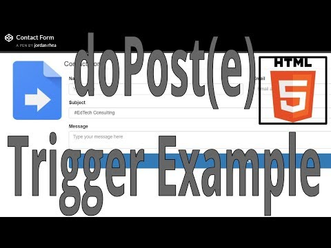 Apps Script: Contact Form Example