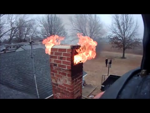 Trumann Fd Chimney Fire 1 Mar 15 Youtube