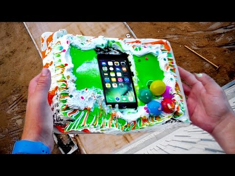 Can Birthday Cake Protect an iPhone 7 from 75ft Drop Test?