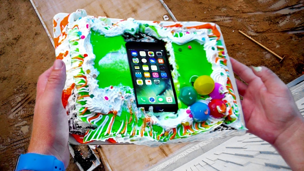 Can Birthday Cake Protect An Iphone 7 From 75ft Drop Test Youtube