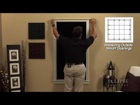 Measuring Your Window For The Eclipse Vinyl Shutter