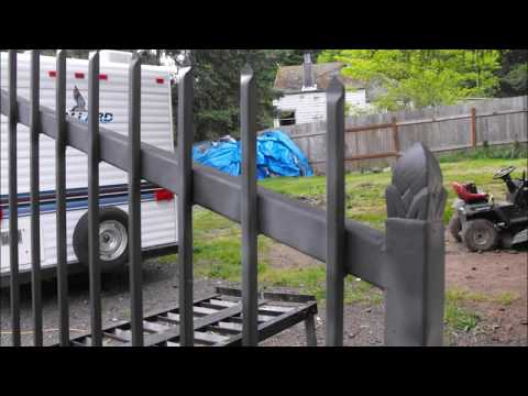 DIY Welding Project-Two Wrought Iron Driveway Gates Fabricated