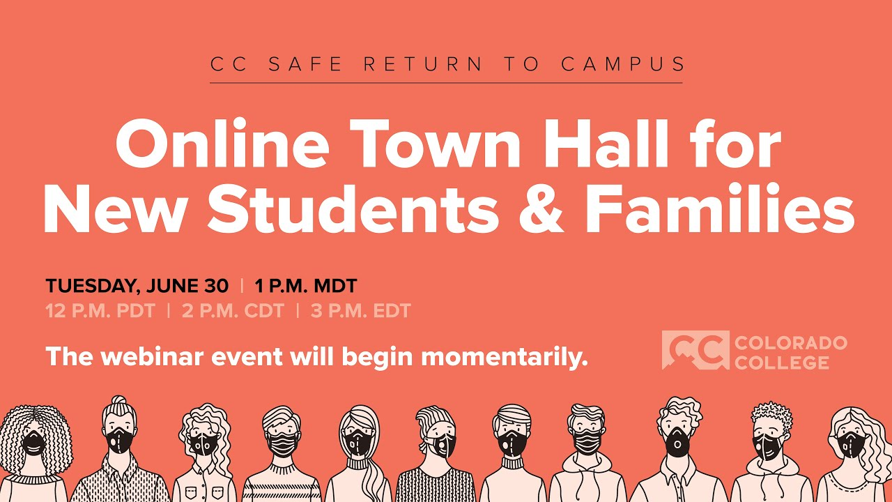 Online Town Hall for New Students & Families