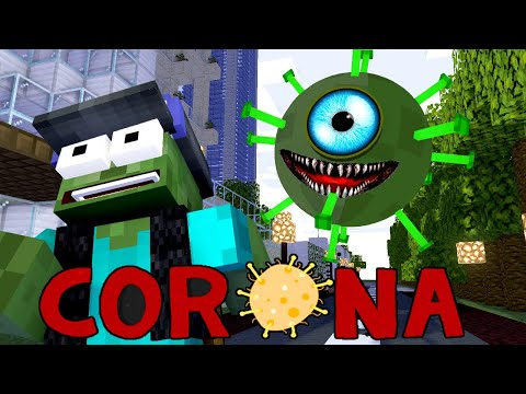 Monster School CORONA LOCKDOWN CHALLENGE Minecraft Animation