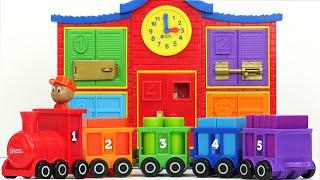 बच्चों के खिलौने के आकार और ट्रेन के लिए सर्वश्रेष्ठ बच्चा सीखने का वीडियो!