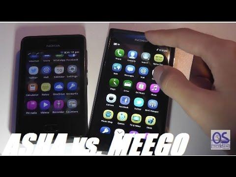 Comparison: Asha OS versus MeeGo OS (Nokia 501 vs. N9)