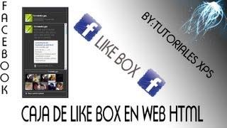 like box (caja de me gusta) de facebook para web html