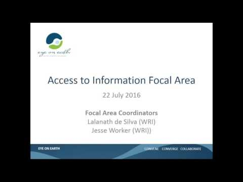 Eye on Earth Access to Information focal area webinar, July 22 2016
