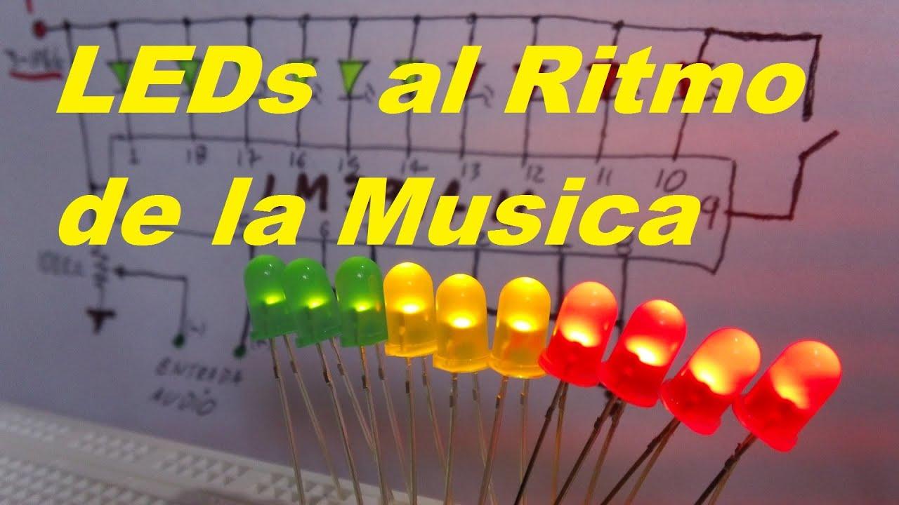 Leds Al Ritmo De La Msica Vumetro Como Se Hace Youtube Vu Meter Circuits Lm3914 Lm3915 Pcb Vumeter Metre To The Rhythm Of Music How Its Done