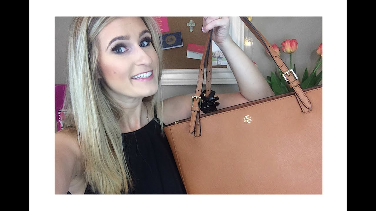 Whats In My Handbag Tory Burch York Buckle Tote Youtube Large French Gray