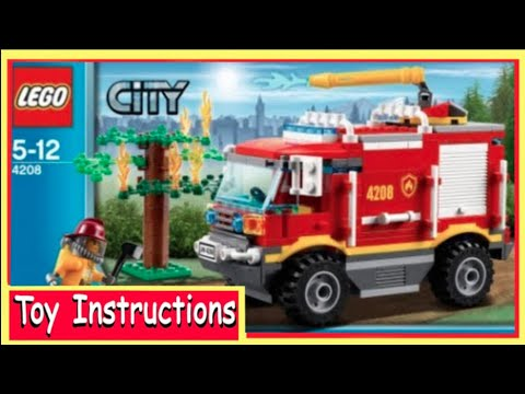 How To Build Lego City 4208 Fire Truck Instructions Youtube